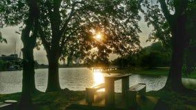 Fecha de la puesta del sol Imagenes de archivo