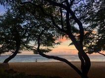 Fecha de la puesta del sol Fotos de archivo