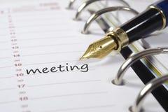Fecha de la reunión Fotos de archivo libres de regalías