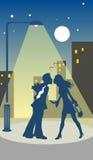 Fecha de la tarjeta del día de San Valentín Imagenes de archivo