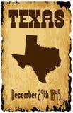 Fecha de Texas Admission To The Union ilustración del vector