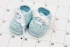 Fecha debida del bebé Fotos de archivo libres de regalías