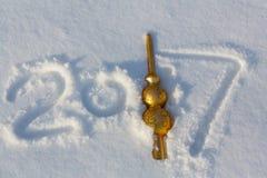 Fecha del Año Nuevo Imagen de archivo libre de regalías