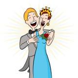 Fecha del baile de fin de curso que fija el ramillete Imagen de archivo libre de regalías