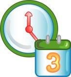 Fecha e icono o símbolo del tiempo Imágenes de archivo libres de regalías