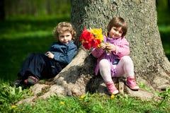 Fecha en parque Imagen de archivo libre de regalías