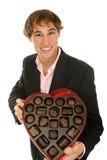 Fecha hermosa de la tarjeta del día de San Valentín Imagen de archivo