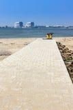 Fecha improvisada playa Fotografía de archivo
