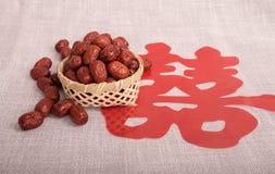 Fecha roja Imagen de archivo libre de regalías