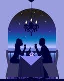 Fecha romántica de la cena Foto de archivo libre de regalías