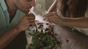 Fecha romántica en el café metrajes
