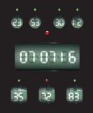 Fecha y reloj del contador de tiempo de la cuenta descendiente Imagen de archivo