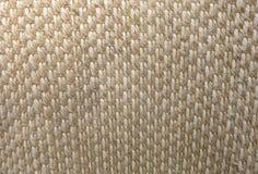 Fechado acima da textura quadrada do teste padrão de Weave de cesta Imagens de Stock