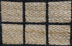 Fechado acima de teste padrão pago da textura do Weave de cesta Imagem de Stock Royalty Free