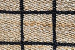 Fechado acima de teste padrão pago da textura do Weave de cesta Fotografia de Stock Royalty Free