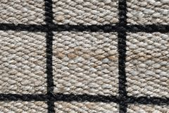Fechado acima de teste padrão pago da textura do Weave de cesta imagens de stock