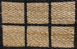 Fechado acima de teste padrão pago da textura do Weave de cesta Imagens de Stock Royalty Free