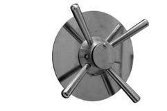 Fechadura da porta segura de aço do vintage velho do tempo isolada sobre o backgr branco Fotografia de Stock Royalty Free