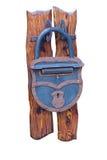Fechamento azul do metal Foto de Stock Royalty Free