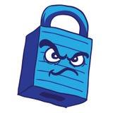 Fechamento azul irritado Fotografia de Stock Royalty Free