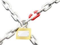 Fechamento Chain Fotografia de Stock