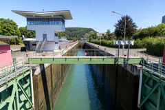 Fechamento da água em Basileia, Suíça Fotografia de Stock