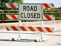 Fechamento da estrada Imagem de Stock Royalty Free