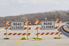 Fechamento da estrada Fotografia de Stock