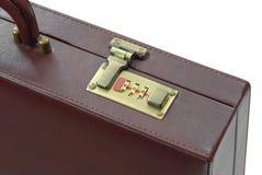 Fechamento da mala de viagem marrom Imagem de Stock Royalty Free