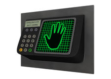 Fechamento da palma da segurança Imagens de Stock