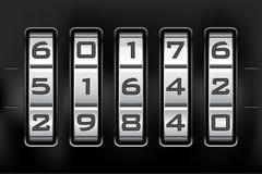 Fechamento de combinação - código do número ilustração stock