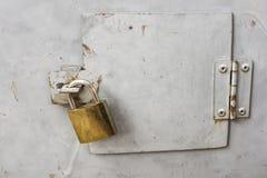 Fechamento de fechamento para a segurança Fotografia de Stock Royalty Free