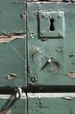 Fechamento de porta antigo fotografia de stock