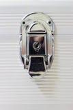 Fechamento de prata do metal Imagens de Stock Royalty Free