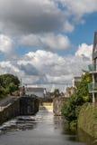 Fechamento do canal de Eglington em Galway, Irlanda Imagens de Stock