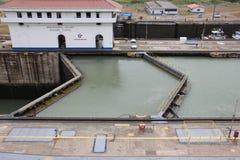 Fechamento do canal do Panamá Imagem de Stock