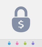 Fechamento do dólar - ícones do granito ilustração royalty free