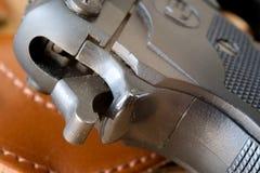 Fechamento do disparador da pistola Imagem de Stock Royalty Free