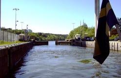 Fechamento do rio Imagens de Stock Royalty Free