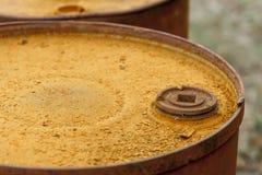 Fechamento do tambor, tampa oxidada do tambor. Imagem de Stock Royalty Free