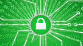 Fechamento do verde da segurança do Internet Foto de Stock Royalty Free