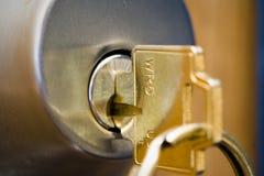 Fechamento e chave Fotos de Stock Royalty Free