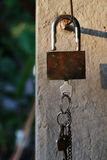 Fechamento e chaves Fotografia de Stock Royalty Free