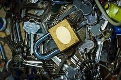 Fechamento e chaves mais bem escolhido Imagem de Stock