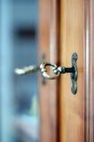Fechamento e close-up da chave Imagens de Stock