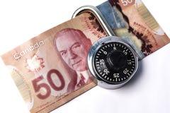 Fechamento e conta canadense Imagens de Stock Royalty Free