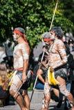 Fechamento forçado março de Brisbane Aborigional Imagem de Stock
