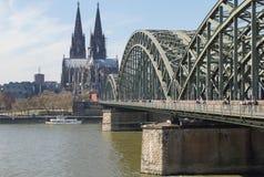 Fechamento Gallary do amor, água de Colônia, Alemanha Foto de Stock