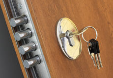 Fechamento Home e chaves Fotografia de Stock Royalty Free
