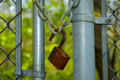 Fechamento oxidado Fotografia de Stock Royalty Free